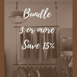 Bundle 3 or more items & Save 15%